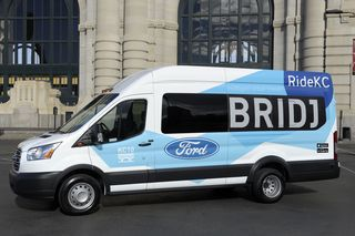 Ride KC Bridj Transit side view